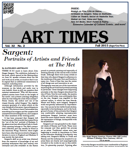Art Time Fall 2015 cover