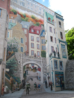 Travel and culture qu bec ctiy and montr al by cornelia seckel for Mural quebec city