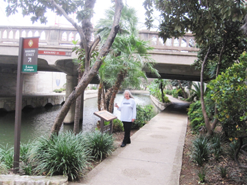 Cornelia Seckel along River Walk, San Antonio Texas