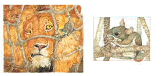 Illustration from the lion and the mouse jerry pinkney 2009 2009