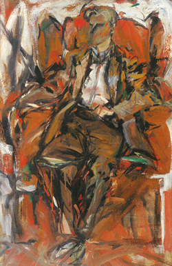 """Willem de Kooning"" by Elaine de Kooning  (scanned by the Author from the exhibition catalog)"