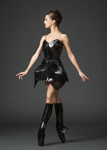 Lauren Lovette in costume by Iris van Herpen, for Benjamin Millepied's Neverwhere,